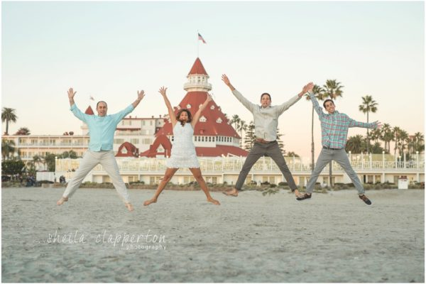 beautiful family of four + grandma at the hotel del coronado  |   beach session coronado beach   {coronado family photographer}