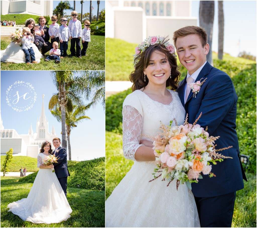 san diego lds temple wedding photographer