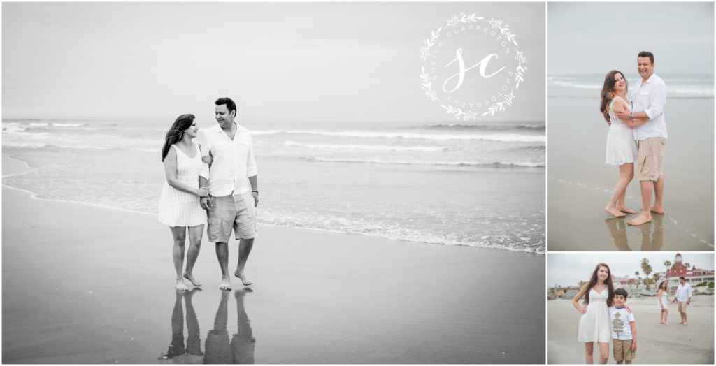coronado beach family photo session