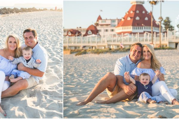 coronado island family photographer  |  dallas texas family of three on vacation   {hotel del coronado beach portraits}