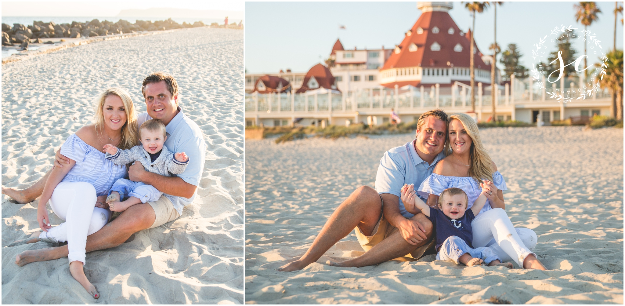 coronado family beach portraits