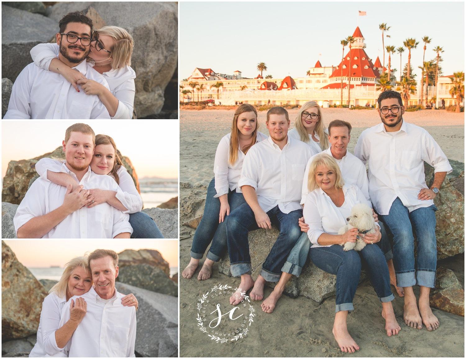 hotel del coronado extended family pictures
