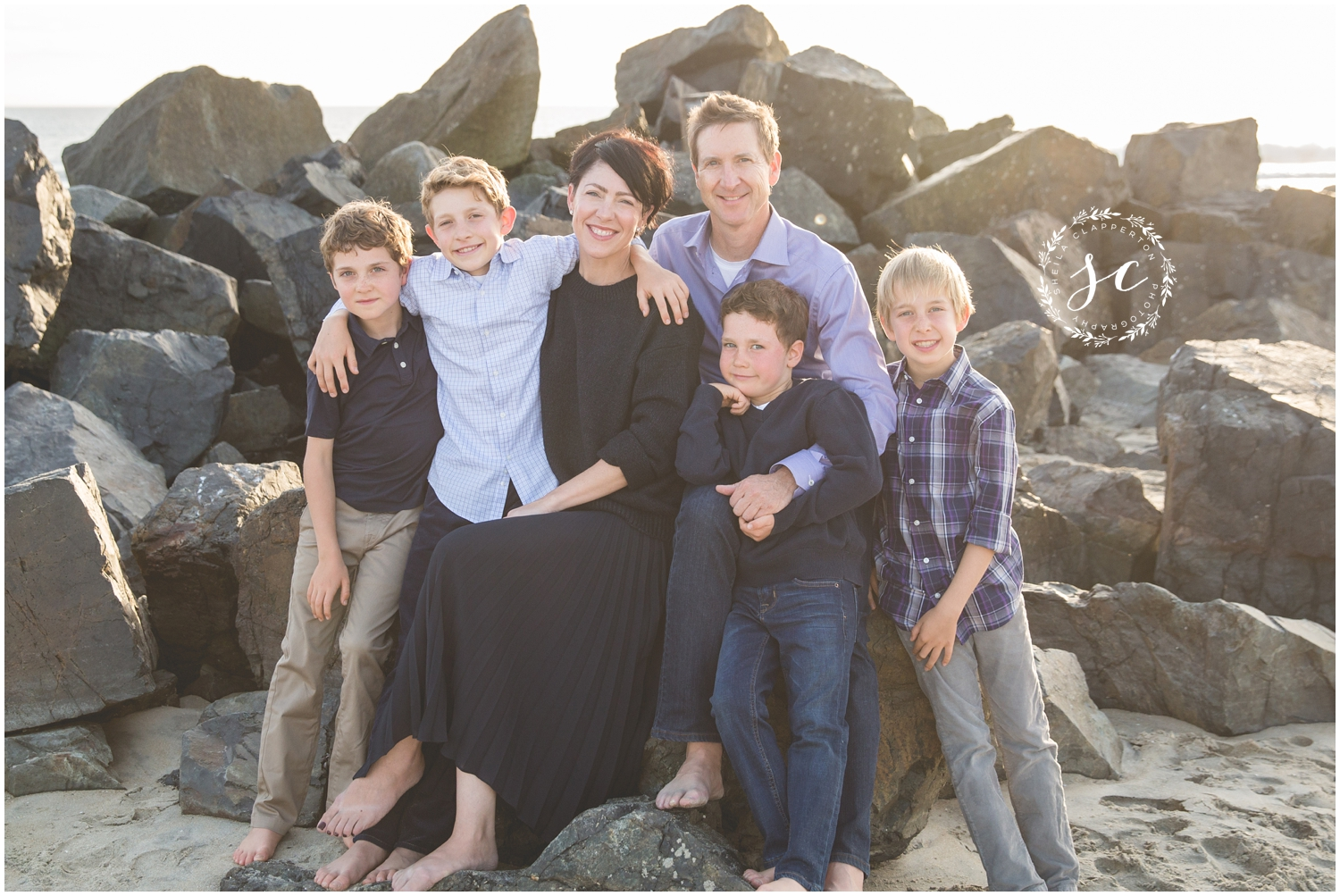 coronado beach family session