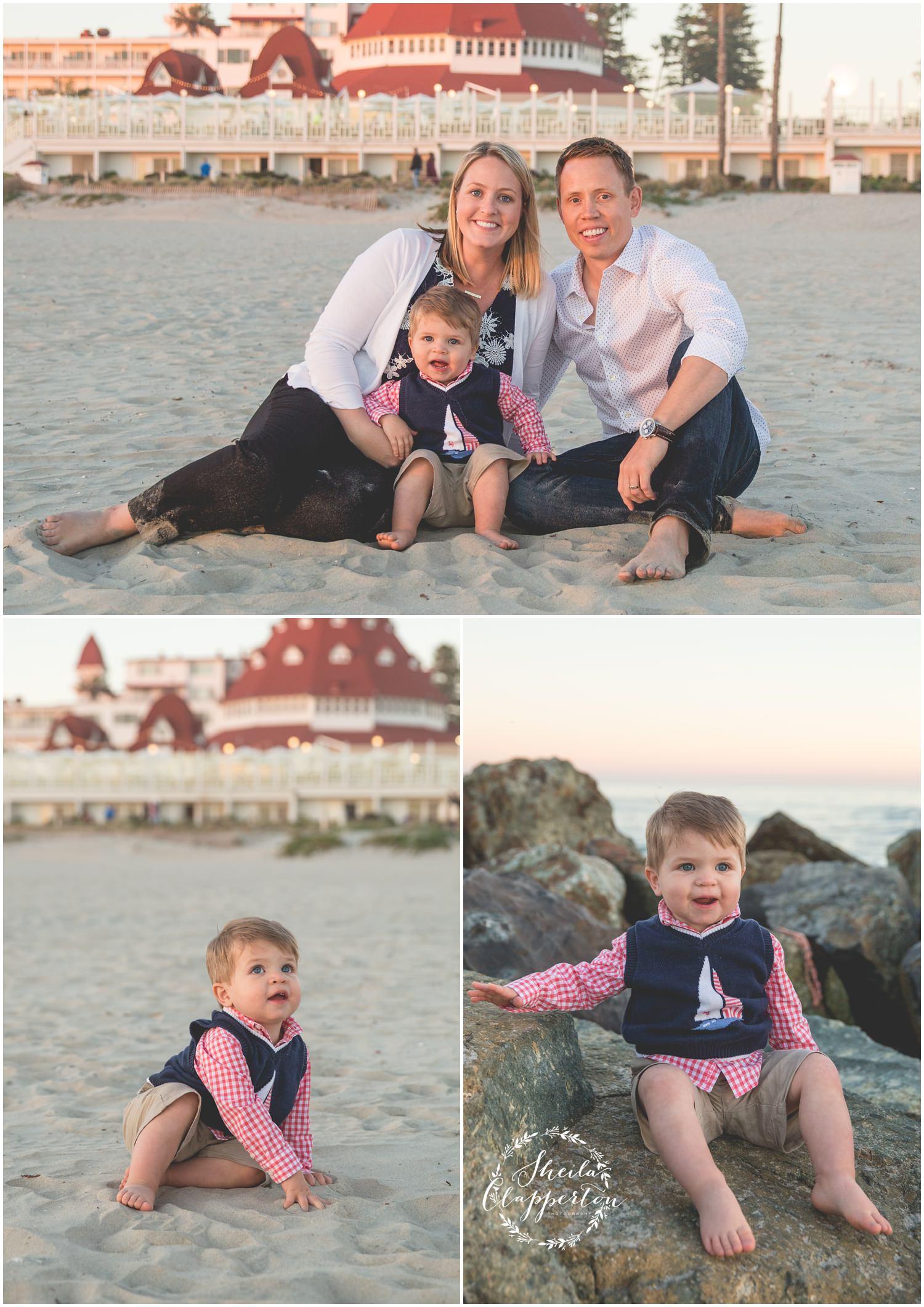 coronado beach family photo