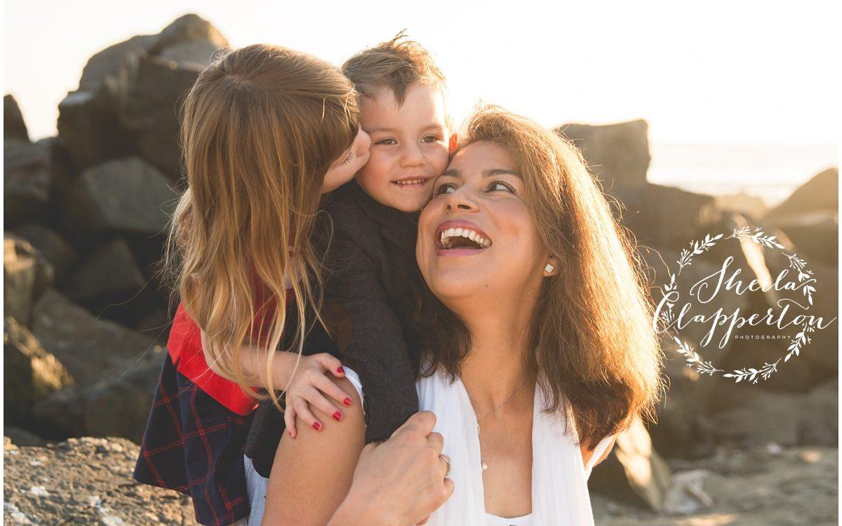 Flagstaff AZ Family of Four      Coronado Beach Portrait Session  {Hotel Del Coronado Photographer}