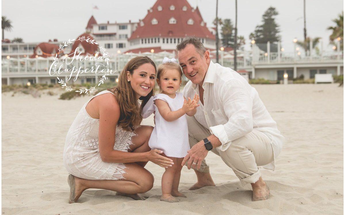 texas family of three {hotel del coronado beach photographer}