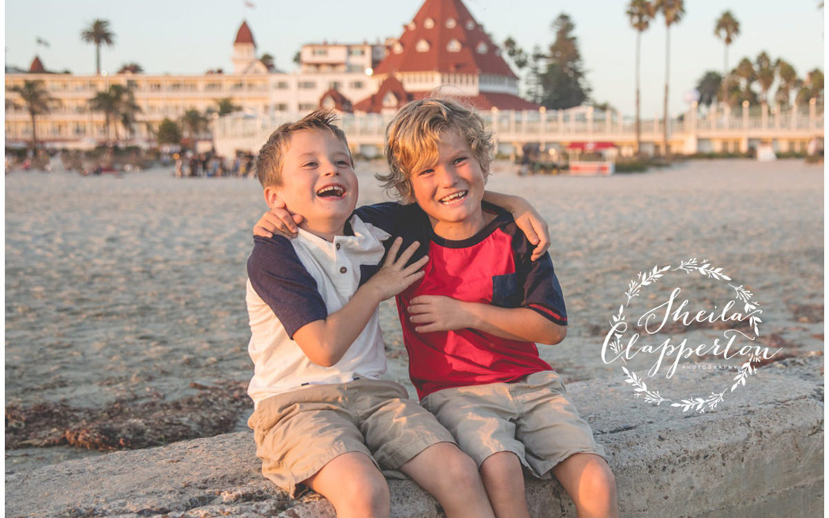 family of four coronado beach portraits {coronado photography}